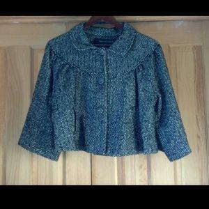 Cropped herringbone jacket