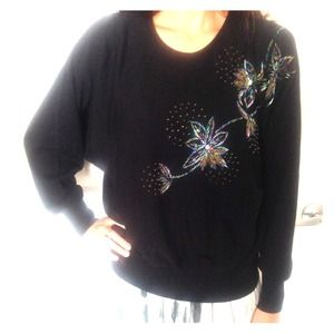 Vintage Beaded Holiday Sweater