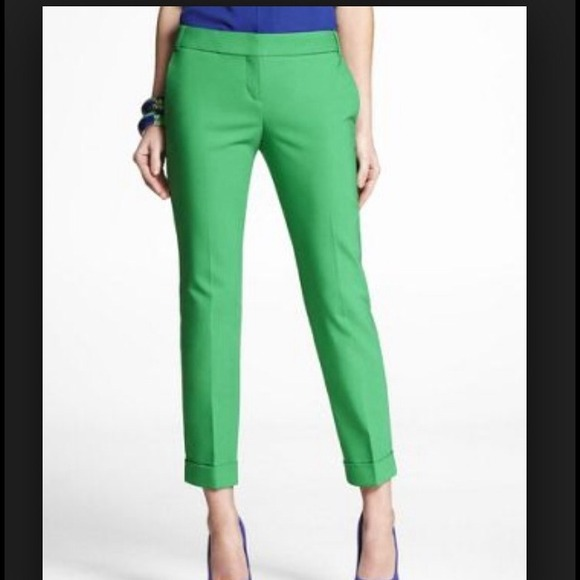 green cropped pants - Pi Pants