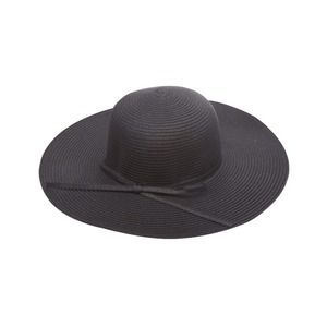 NWOT Black Floppy Straw Hat