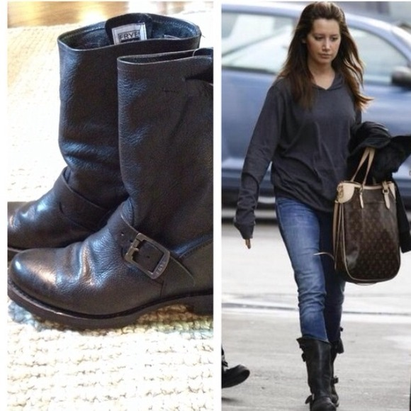 Frye Shoes Veronica Slouch Boots In Black Poshmark