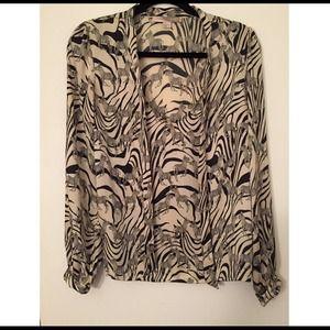 Zebra Forever 21 Blouse