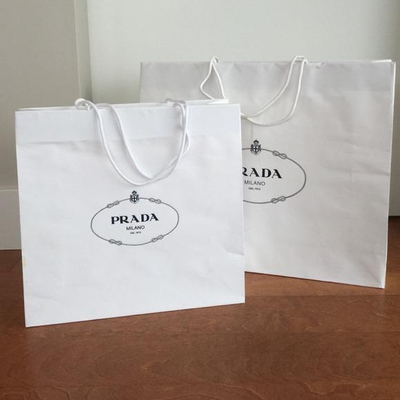 ae29883d4b98 ... switzerland 2 prada white paper shopping bags ef3e8 bbf7a