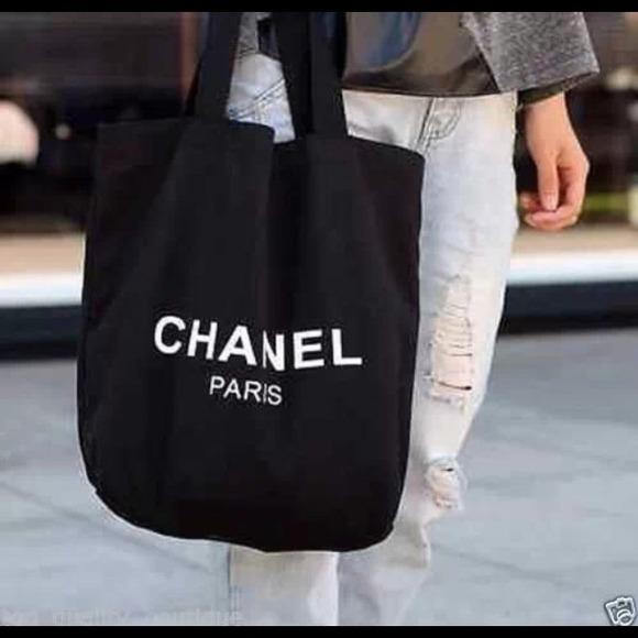 ba7d971e5123 CHANEL Handbags - Chanel black canvas shopping tote, VIP gift
