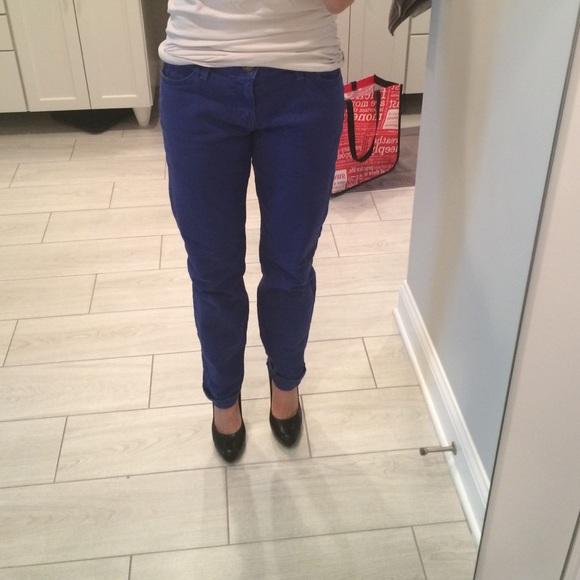 Current/Elliott Denim - Current Elliot ankle skinny in royal blue