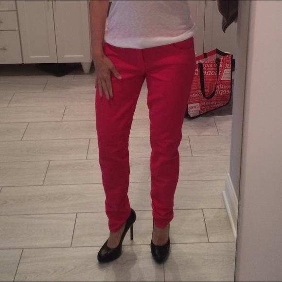 Current/Elliott Jeans - Current elliot ankle skinny on bright rose sz 30
