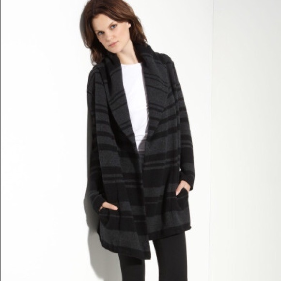 53% off Vince Sweaters - vince striped hooded blanket sweater from ...