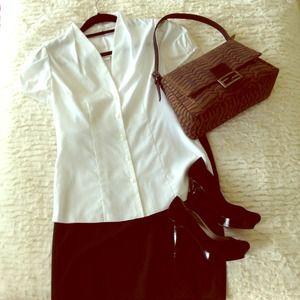BANANA REPUBLIC White cotton blouse NWT