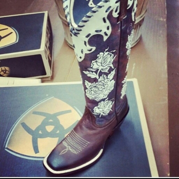 54% off Ariat Boots - Ariat square Toe Boot from Kallie's closet ...
