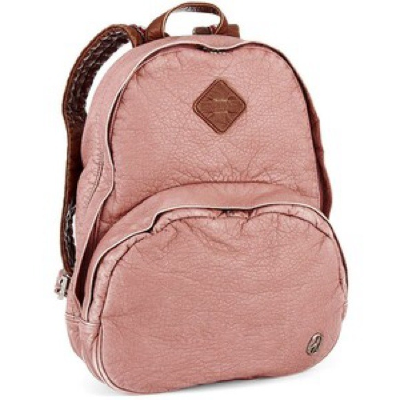 Brown Faux Leather Backpack Faux Leather Pink Brown