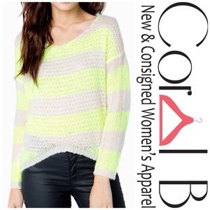 Sweaters - Neon Striped Sweater