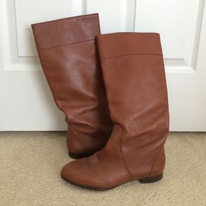 JCREW brown leather boots size 9