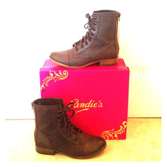 candie s candie s brown combat boots from s closet