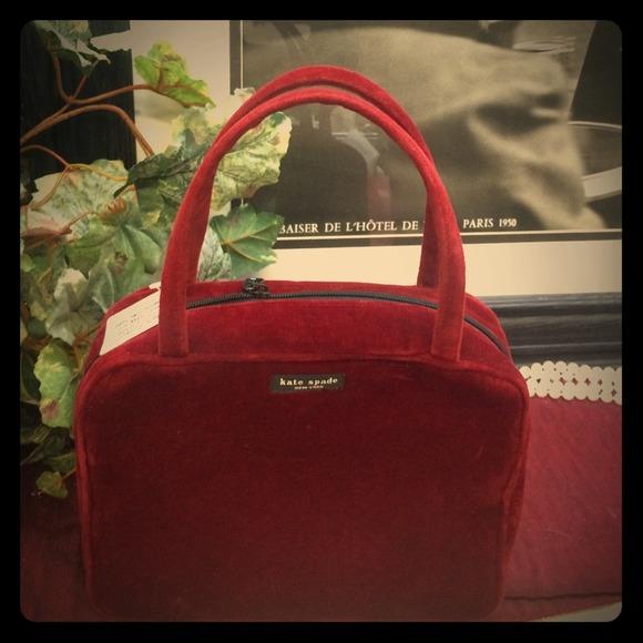 Kate Spade Bags Red Velvet W Makeup Bag Hobo Poshmark