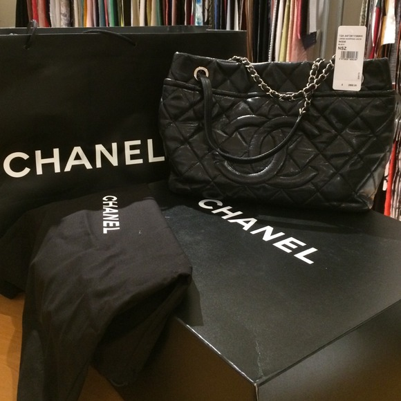 d1d835f92dea71 CHANEL Bags | Large Shopping 30cm Black Bag | Poshmark
