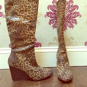 Animal Print Boots (Price reduced and firm) :)