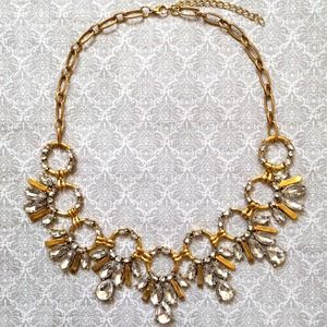 Jewelry - Gold & Clear Statement Necklace