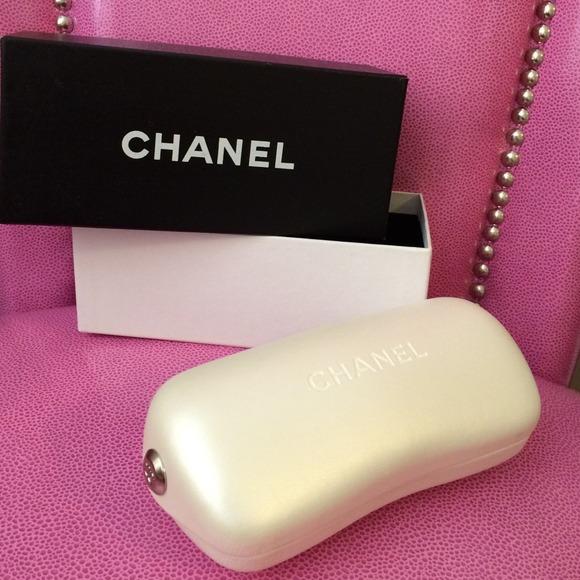 70d5f9c989ba CHANEL Accessories | White Glasses Case Box | Poshmark