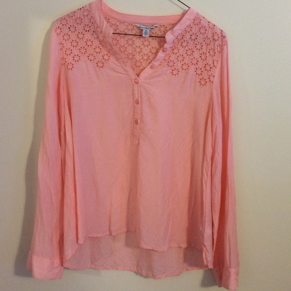 67 Off American Eagle Outfitters Tops Light Pink Long