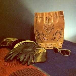 GENUINE LEATHER..Hand crafted purse