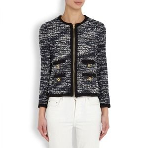 Juicy Couture tweed blue and white jacket