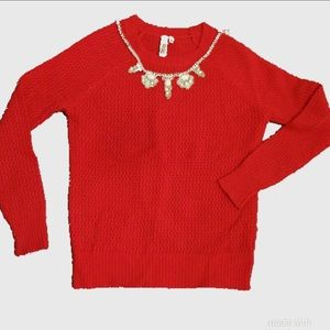 Sweaters - Red 100% cashmere sweater