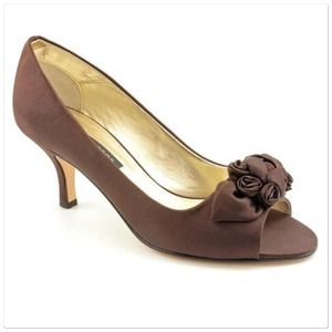 Caparros Shoes - Caparros Nahla Satin Brown Open Toe Shoes sz 9.5