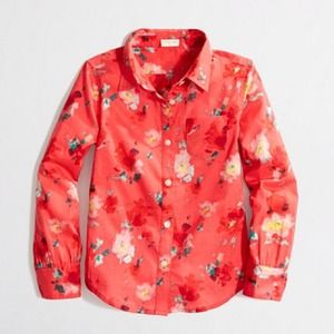 J. Crew floral button up