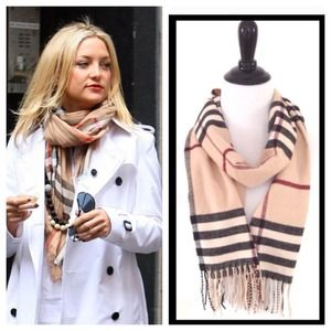 Accessories - Plaid Cashmere Feel Scarf