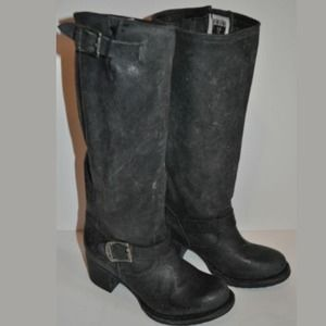 Frye Shoes - New Frye Vera Slouch Engineer Tall Black Boots 7