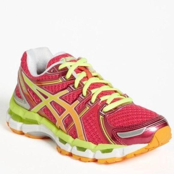d318d5935a2a asics Shoes - ASICS Gel Kayano 19 Running Sneakers Pink Neon 8.5
