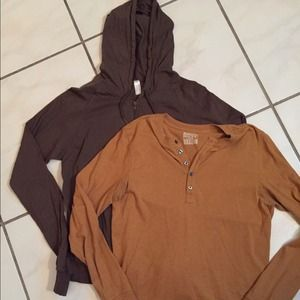 Mens small hoodie and long sleeve shirt