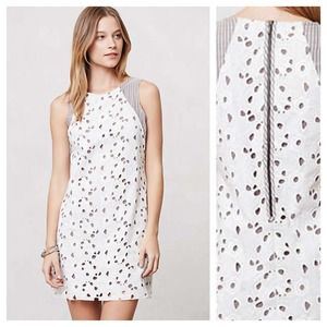 Anthropologie Fleur Eyelet Dress, sz XS