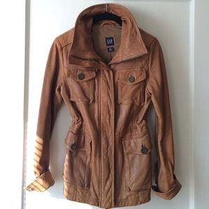GAP Jackets & Blazers - Gap Tan Leather Jacket