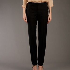 Burberry Black Straight-leg Wool blend Trouser 12