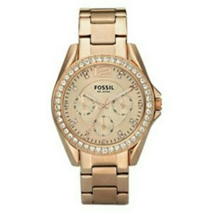 Fossil Women's 'Riley' Multifunction Rose Goldtone