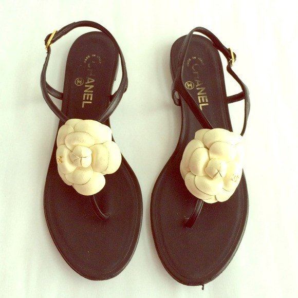 be52ace349b CHANEL Shoes - Chanel Classic flower thong sandals