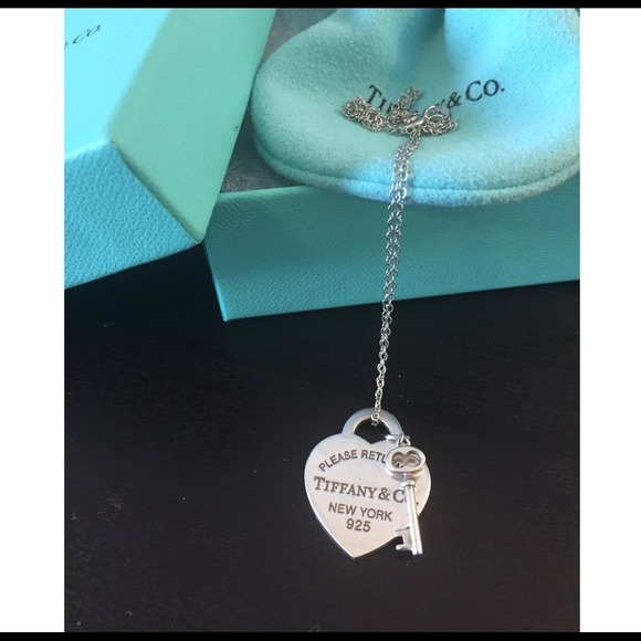 8f15b37c9 Tiffany & Co Heart Tag & Key Pendant Necklace. M_5446bd3e9da2593aa1322579