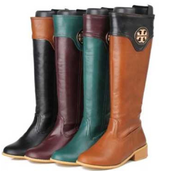 75% off Tory Burch Boots - Inspired Tory Burch riding boots black ...