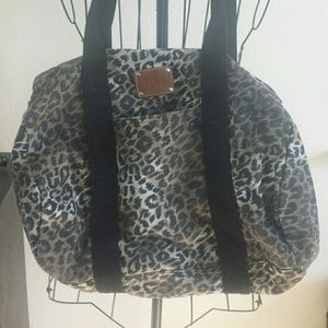 PINK Victoria's Secret Handbags - Leopard PINK mini duffle bag.