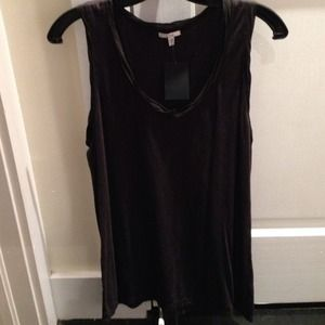 Clu Coal Grey Hemp/Cotton Tank w/ Black Silk Trim