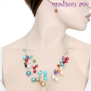 Jewelry - Multi-color fashion pearl/stone necklace