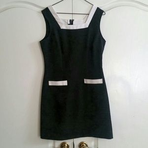 B&W color block dress