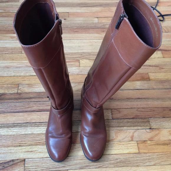 42% off Bandolino Boots - Bandolino Calais Cognac Knee High Wide ...