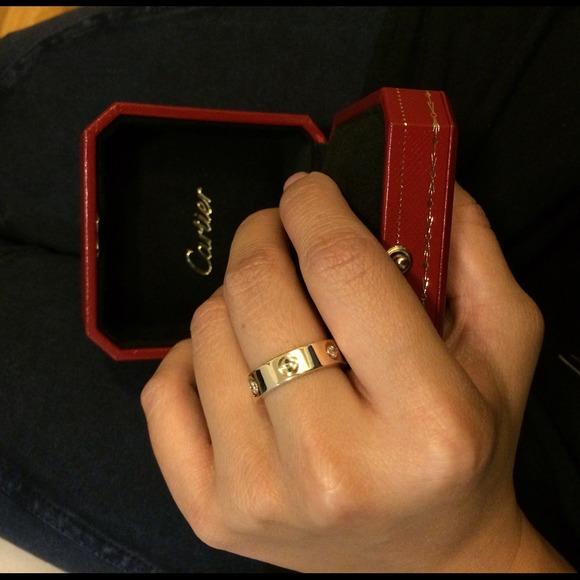 Love Platinum Ring Men