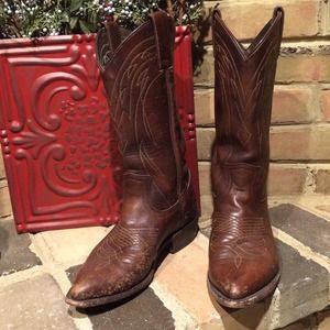 Frye Boots - Frye Distressed Cowboy Boots