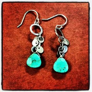 Sterling Silver and Howlite Earrings