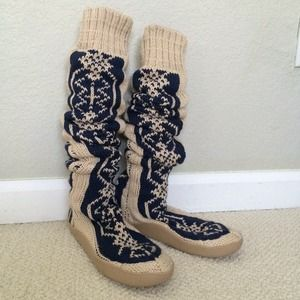 8814d1564 Free People Shoes - Free People Gretta Over the Knee Slipper Sock