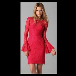 Red lace BCBG Dress