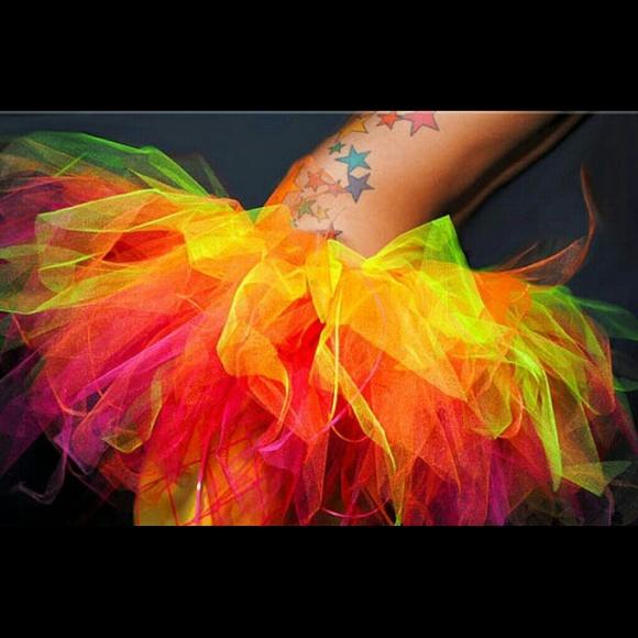 bd2673708 Dresses | Sale Neon Inferno Rave Micro Tutu | Poshmark